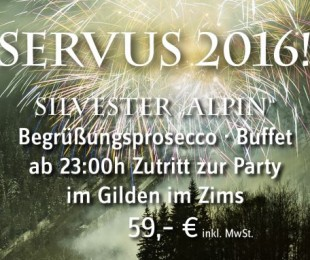 Servus 2016! Silvesterfeier